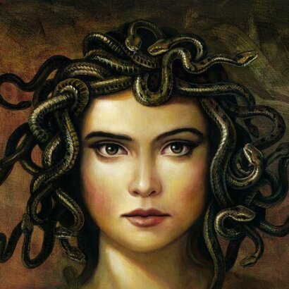 Artist painting of Medusa