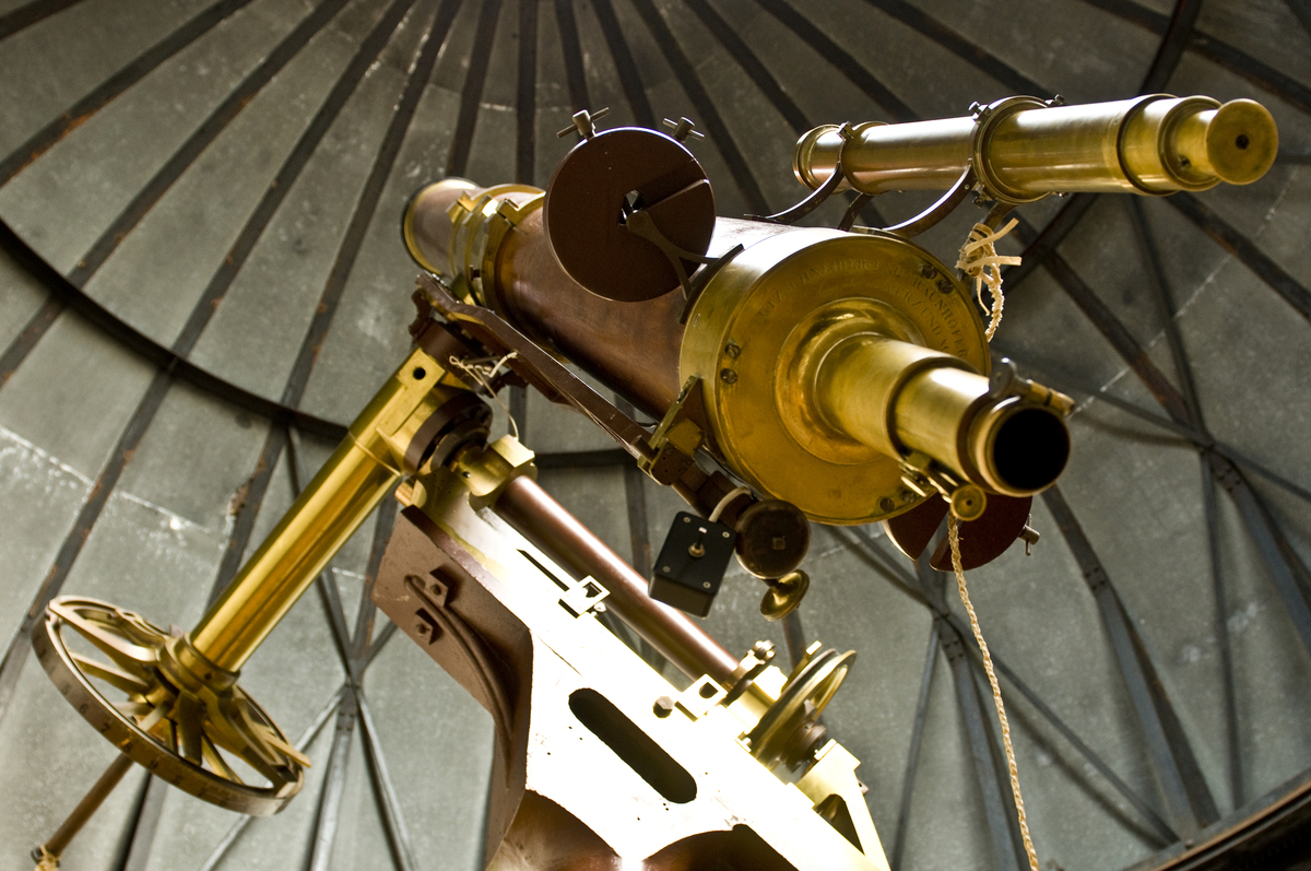 The Mitchel Telescope made in 1845 under the dome